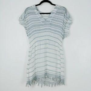 Athleta Cotton Gauze Stripe Tassel Coverup Dress